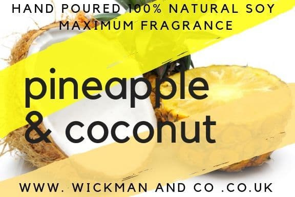 Pineapple & Coconut Soy Wax Candle